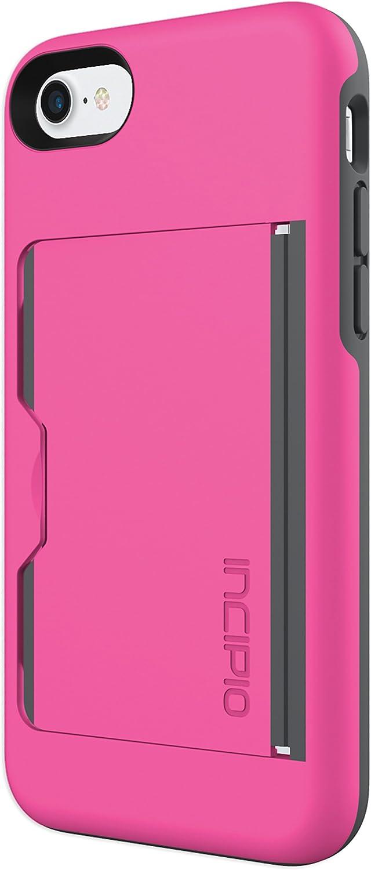 Incipio IPH-1477-PKC Stowaway for iPhone 8 & iPhone 7 - Pink/Charcoal