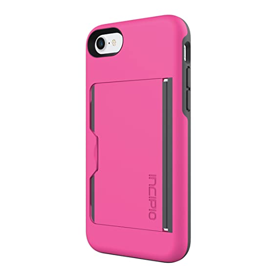 hot sale online f013e 00c23 Incipio IPH-1477-PKC Stowaway for iPhone 8 & iPhone 7 - Pink/Charcoal