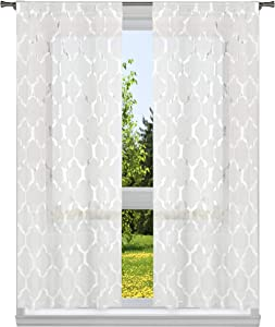 Home Maison Gate Bena Metallic, 37x96 (2 Pieces), White