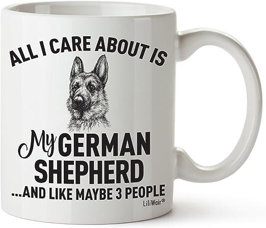 Amazon.com: Pastor alemán mamá regalos taza mujeres hombres ...