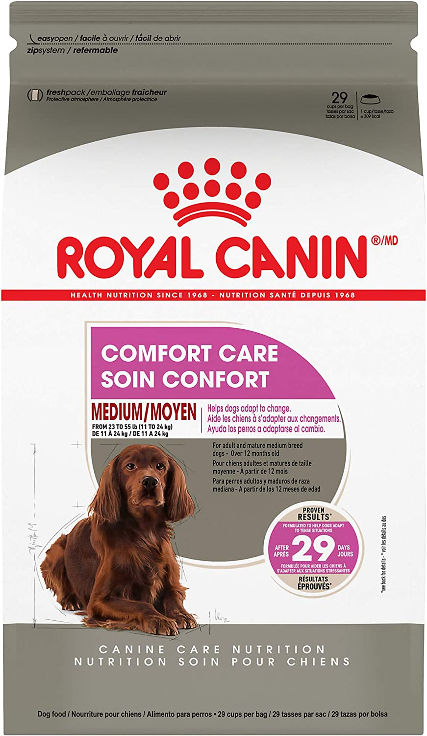 Royal Canin Canine Care Nutrition Medium Comfort Care Dry Dog Food, 6 lb