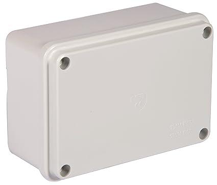Electraline 60558 - Caja de derivación de superficie (lisa, 120 x 80 mm)