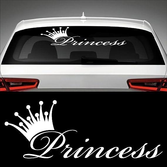 Princess Heckscheibenaufkleber 60 0 Cm X 22 0 Cm Auto Aufkleber Jdm Oem Tuning Sticker Decal 30 Farben Zur Auswahl Auto