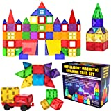 Desire Deluxe Magnetic Tiles Blocks Building Set for Kids – Learning Educational Toys for Boys Girls for Age 3 - 8 Year…
