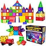 Desire Deluxe Magnetic Tiles Blocks Building Set for Kids – Learning Educational Toys for Boys Girls for Age 3 - 8 Year-Old –