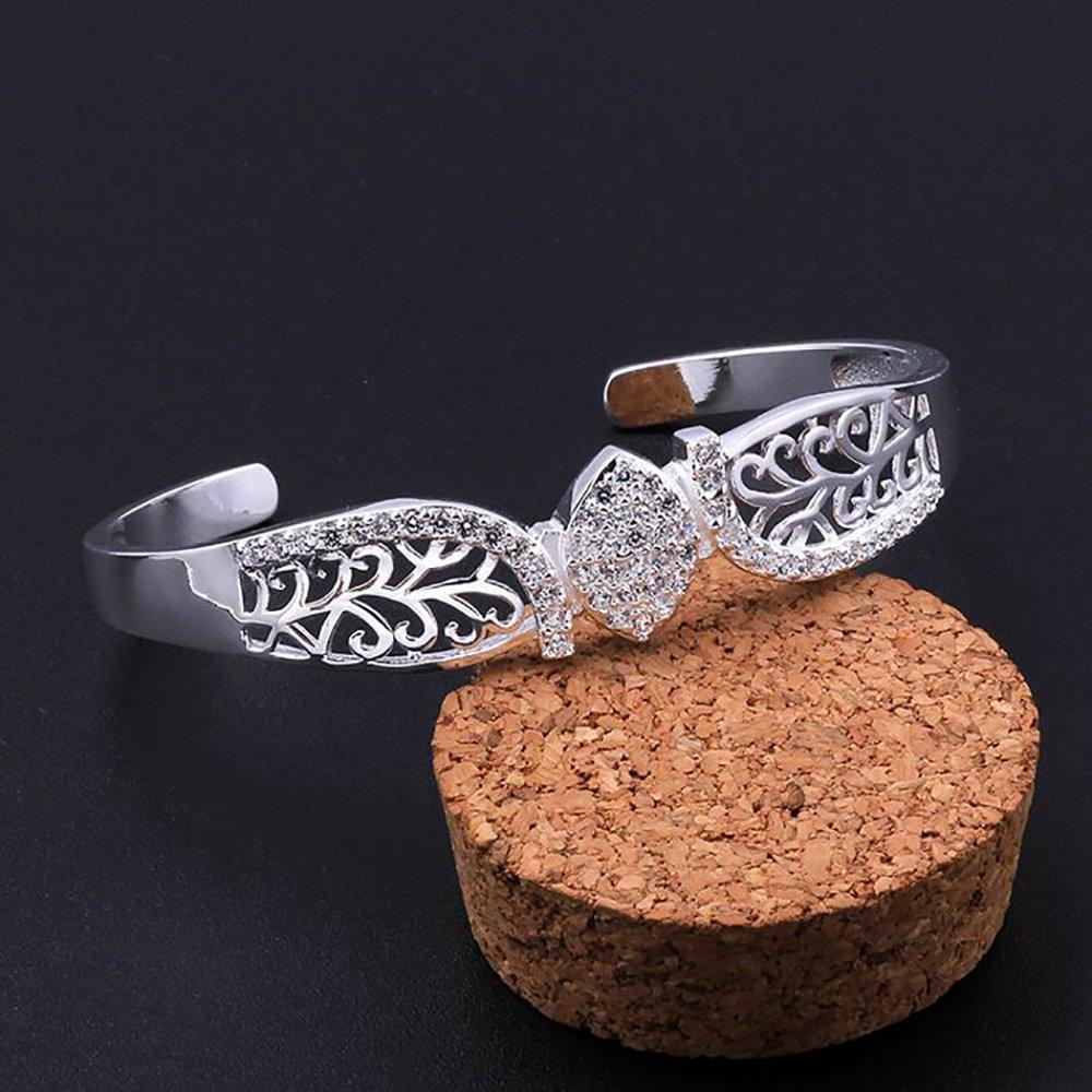 SIENNA693 Silver Plated Bangle Bracelets 925 Silver Jewelry Fashion Bangle Jewelry Gift for BFF SU714