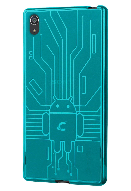 Sony Xperia Z5 Premium Case, Cruzerlite Bugdroid Circuit Case Compatible for Sony Xperia Z5 Premium - Black
