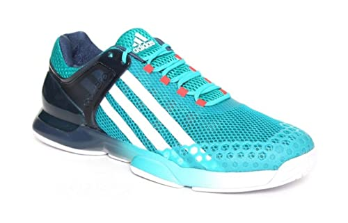 adidas Adizero Ubersonic, Zapatillas de Tenis para Hombre, Verde/Blanco / Azul (