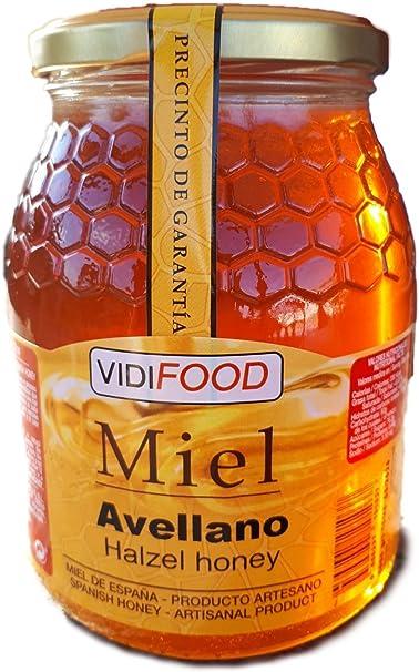 Miel de Avellano - 1kg - Producida en España - Alta Calidad ...