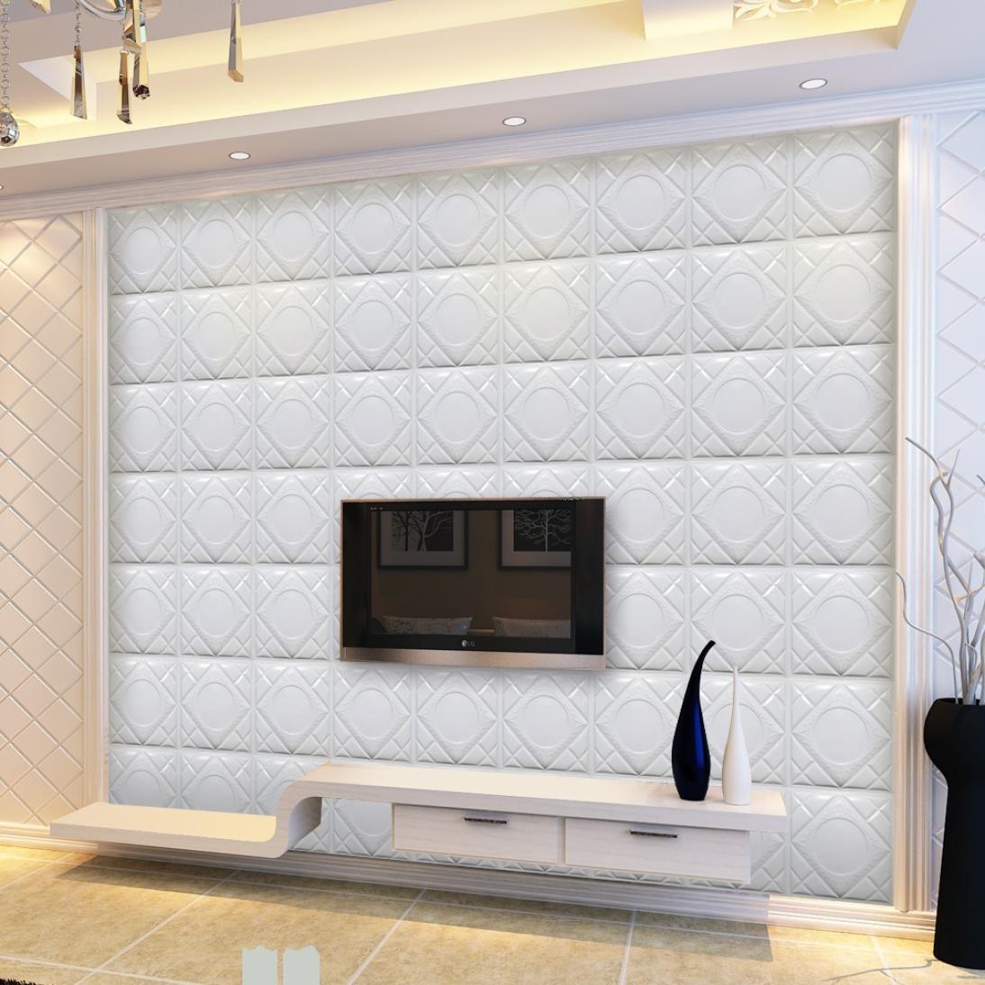 Amazon Com Coohole Modern 3d Brick Pattern Wallpaper Tv Wall