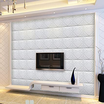 Amazon Com Coohole Modern 3d Brick Pattern Wallpaper Tv Wall