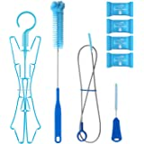 TAGVO Hydration Bladder Tube Brush Cleaning Kit for Universal Bladders, 4 in 1 Cleaner Set-Long Brush for Hose, Small…