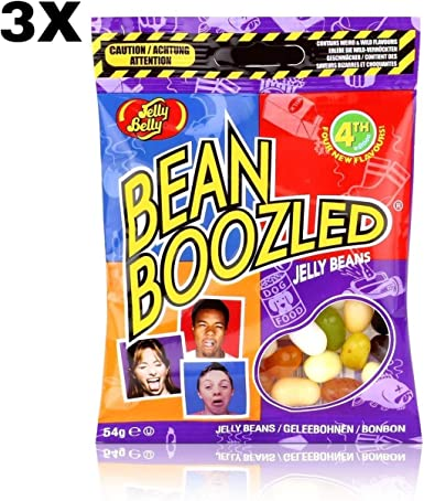 3 pack x Jelly Belly Beans Bean Boozled (54 gramos) Risas con los ...