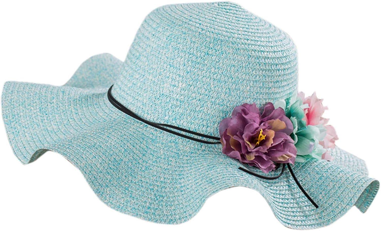 Elibone Hat 1PC Women Colorful Summer Girl Women Wide Brim Beach Sun Hat Elegant Flower Boho Cap 2019