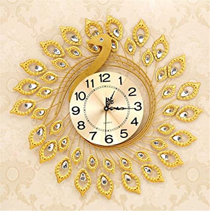 a10e79d2b Image Unavailable. Image not available for. Color  Luxury Large Wall Clocks  Metal ...