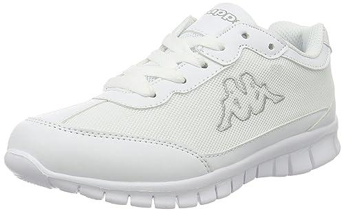 Kappa New York, Scarpe da Ginnastica Basse Unisex �C Adulto, Bianco (White/Black), 36 EU