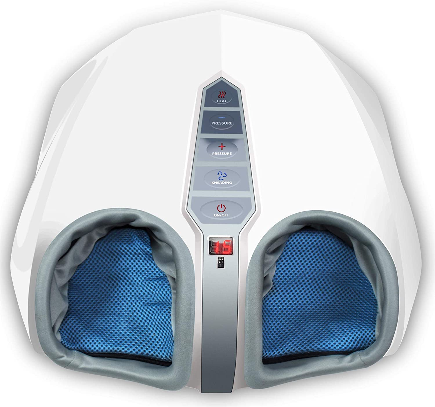 Miko Shiatsu Foot Massager Machine with Heat, Air Compression, Kneading Massage, and Rolling Therapy - Relieve Plantar Fasciitis, Feet Pain, Neuropathy, Tired Muscles and Improve Circulation