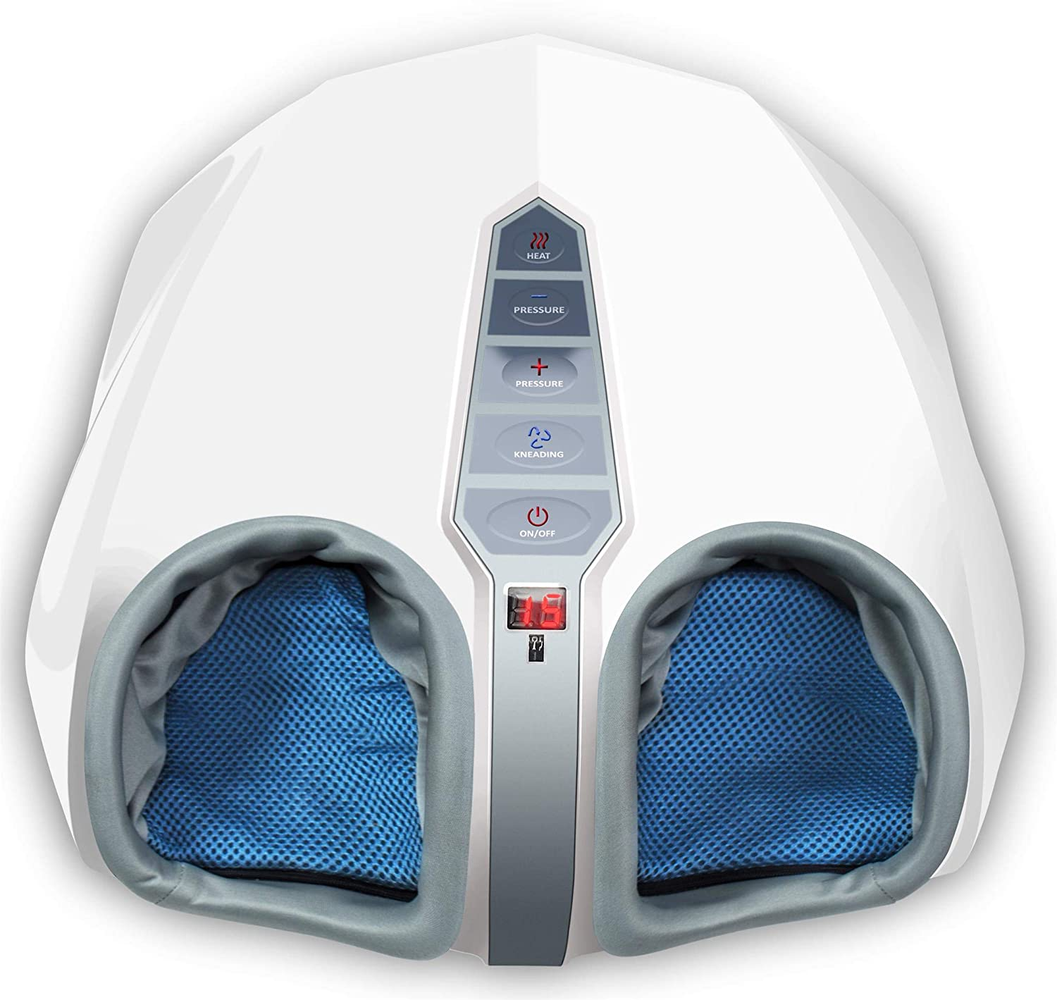 Miko Foot Massager with Multi-Level Settings, Shiatsu Deep Kneading, and Switchable Heat Function White