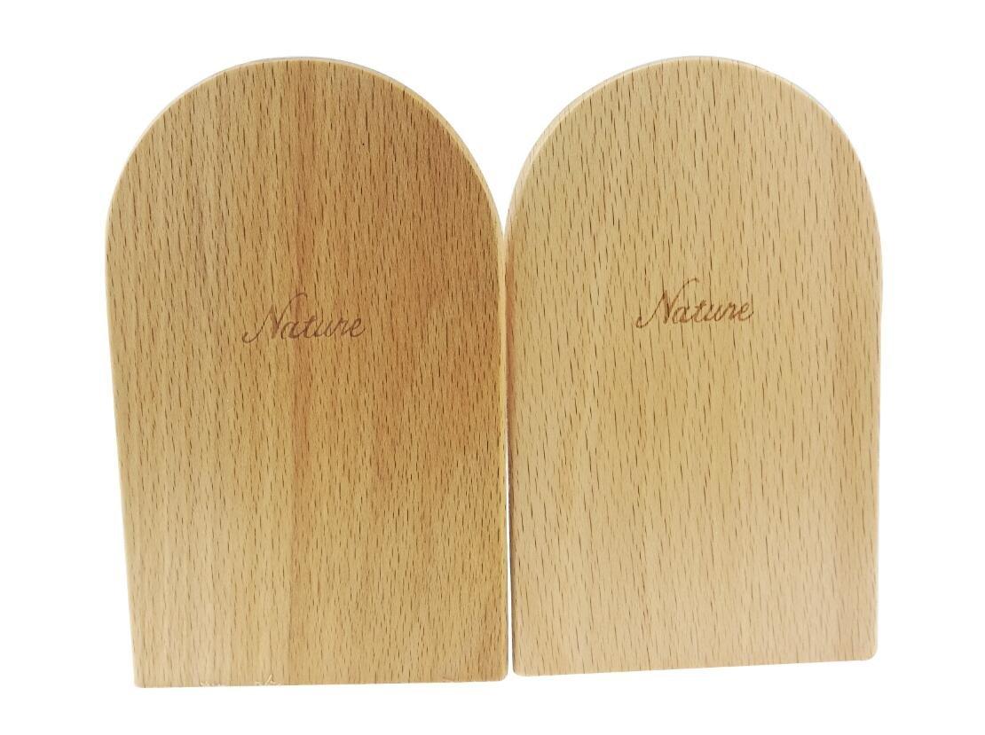 Simple madera japonés estilo naturaleza madera de haya colores del registro de libro Stand sujetalibros sujetalibros de estantes Soporte Winterworm