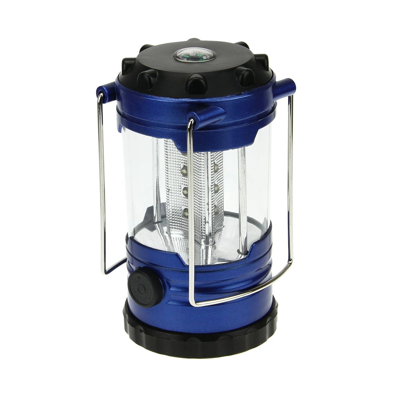 Acampada Azul ENKEEO LED Linterna Camping 50 Horas Port/átil Plegable Impermeable Ligera con Foco y Gancho para Aire Libre Emergencias Alimentada por Bater/ías AA no incluidas