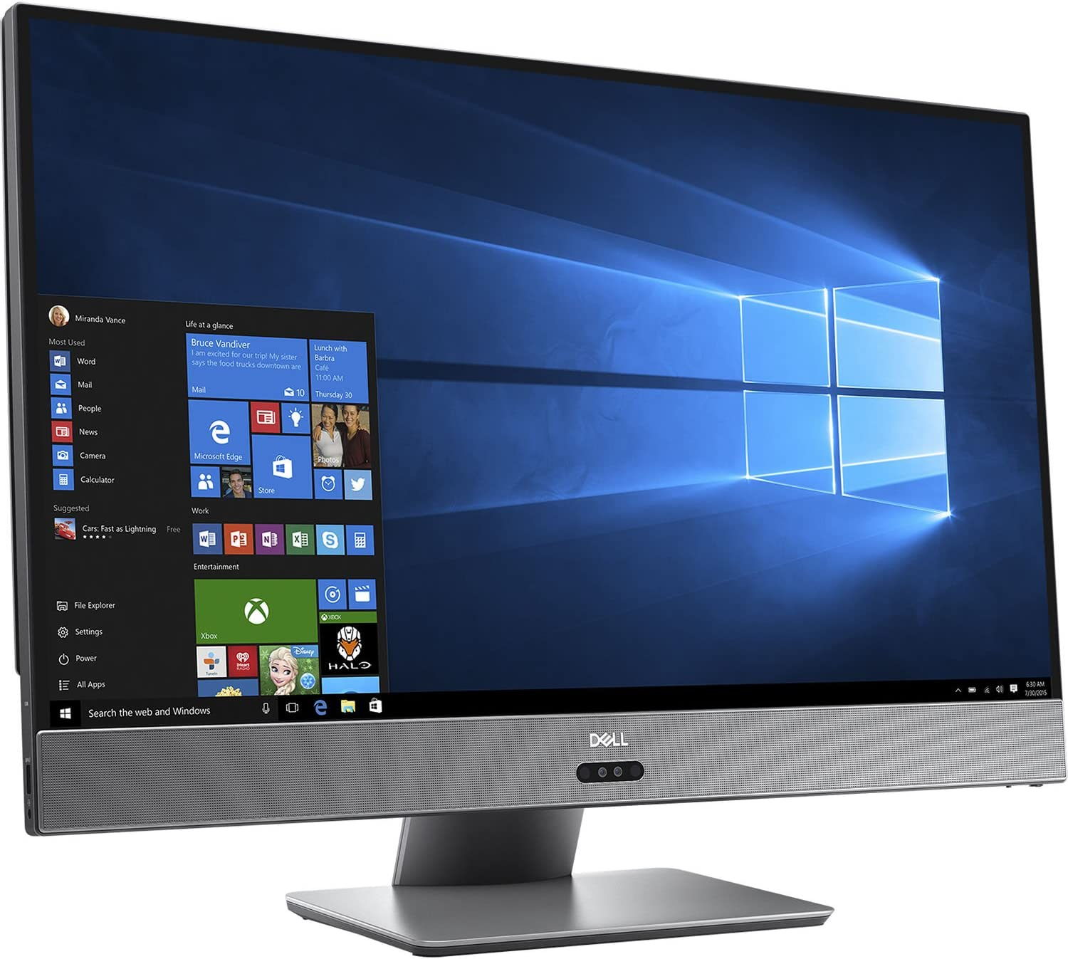 Dell Inspiron 7775 27in FHD All-in-One Desktop PC - AMD Ryzen 5 1400 3.2GHz, 8GB, 1TB HDD, AMD Radeon RX 580 8GB Graphics, Bluetooth, Wi-Fi, Windows 10 Home (Renewed)