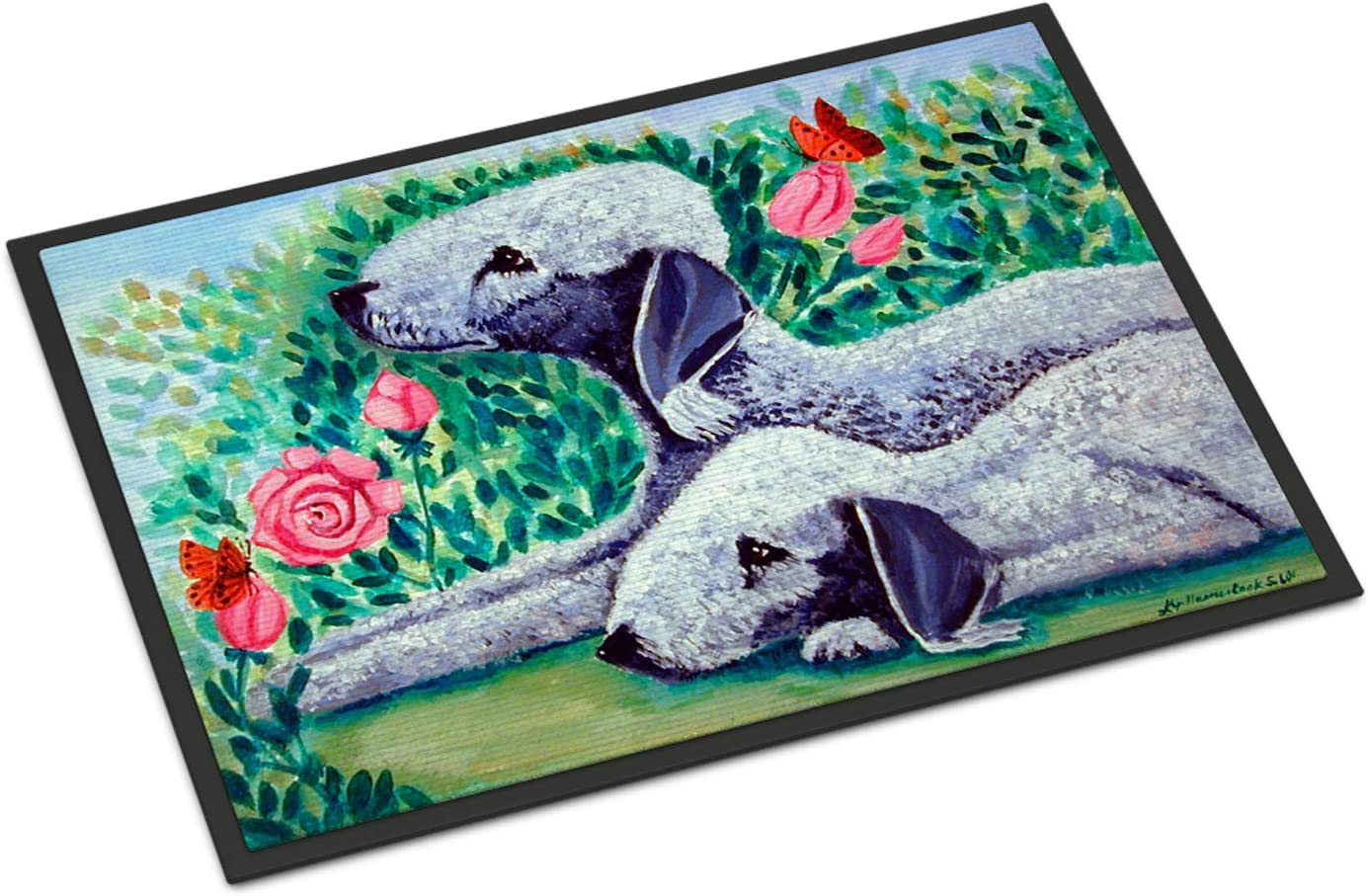 Caroline s Treasures 7512MAT Bedlington Terrier Indoor Outdoor Mat 18×27 Doormat, 18H X 27W, Multicolor