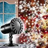 Amazoncom Lightshow Projection Multi Function White Led Snowflakes