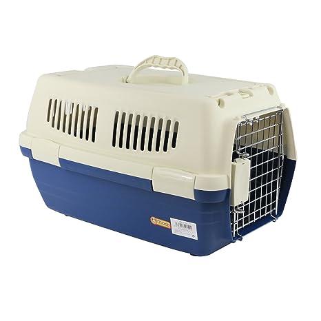 YOMMY® Transportín Mascotas para Perros Gatos Plastico 47.5 X 29 X 28.5 cm YM-