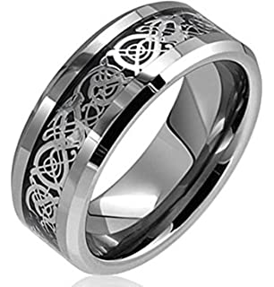 FANSING Jewelry 8mm Chain Design Stainless Steel Spinner Rings for