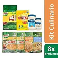 Knorr Suiza Kit Culinario (incluye Mayonesa, Maizena, Arroz, Sopa Fideo/Letras Más Pasta, Pasta Sides Alfredo)