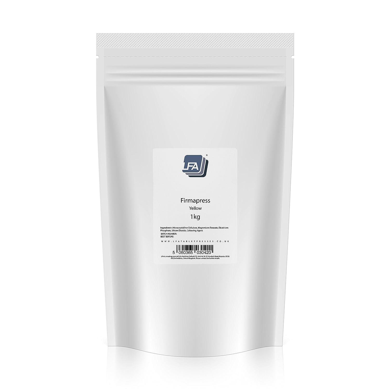 Firmapress Excipiente Aglutinante | Mezcla de Tabletas Farmacéuticas Todo en Uno | Firmapress Polvo Para Tableteadoras (1KG, Amarillo): Amazon.es: Industria ...