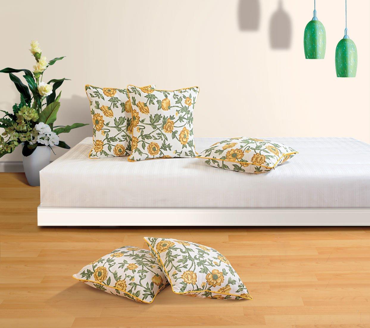 ShalinIndiaのセット5フローラル印刷クッション枕カバー – Perfect forベッドとソファ – 200スレッドカウントコットン生地 16 x 16 Inch MPN-CC182-3701-S5-16x16 B07BMSY7M9 16 x 16 Inch|Multi_8 Multi_8 16 x 16 Inch