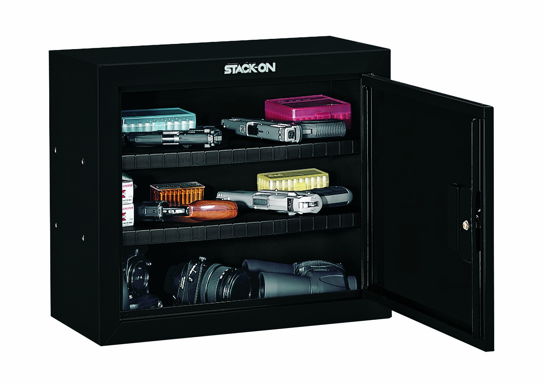 Stack-On GCB-900 Steel Pistol/Ammo Cabinet, Black by Stack-On (Image #2)