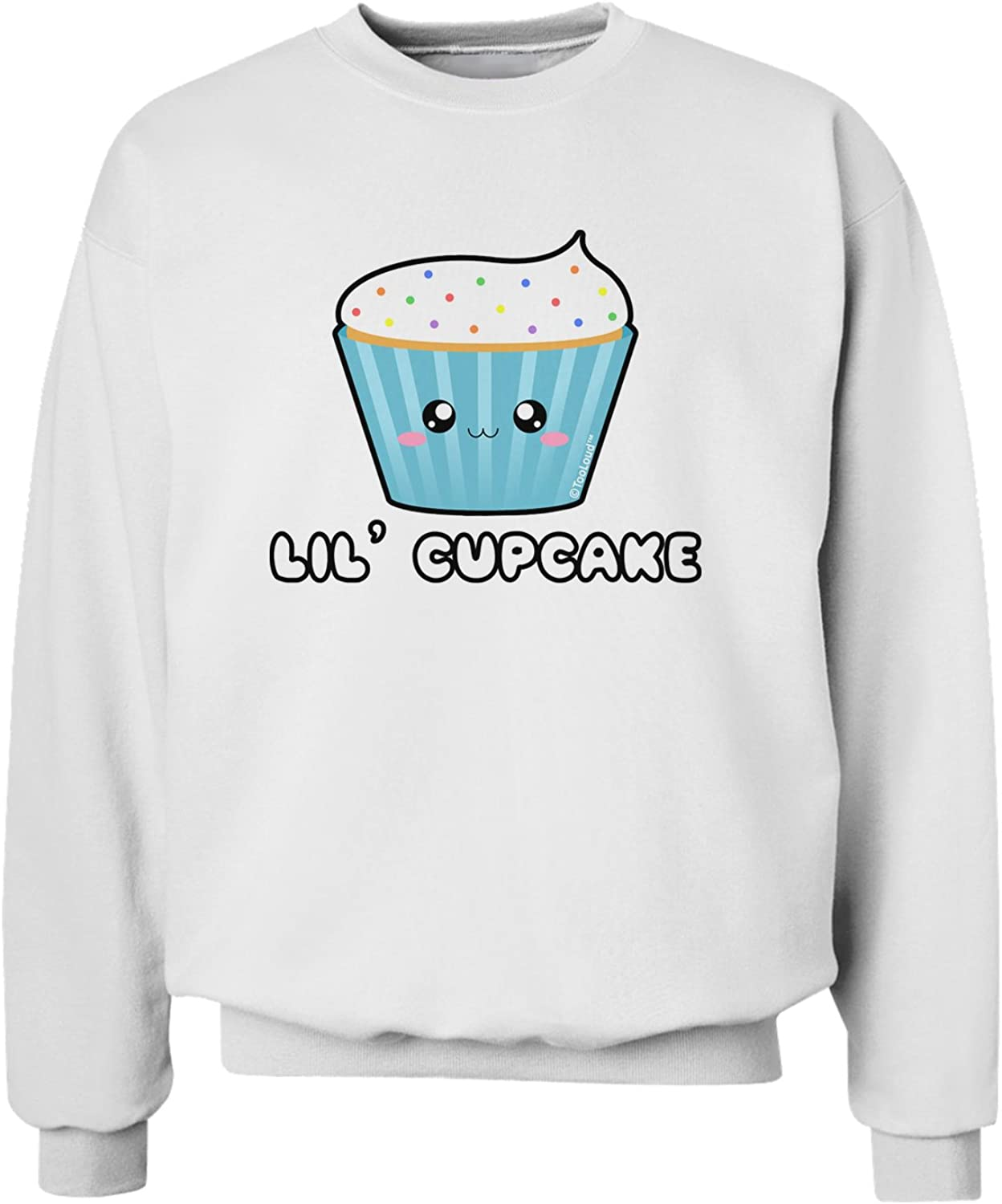 TooLoud Cute Cupcake with Sprinkles Lil Cupcake Sweatshirt