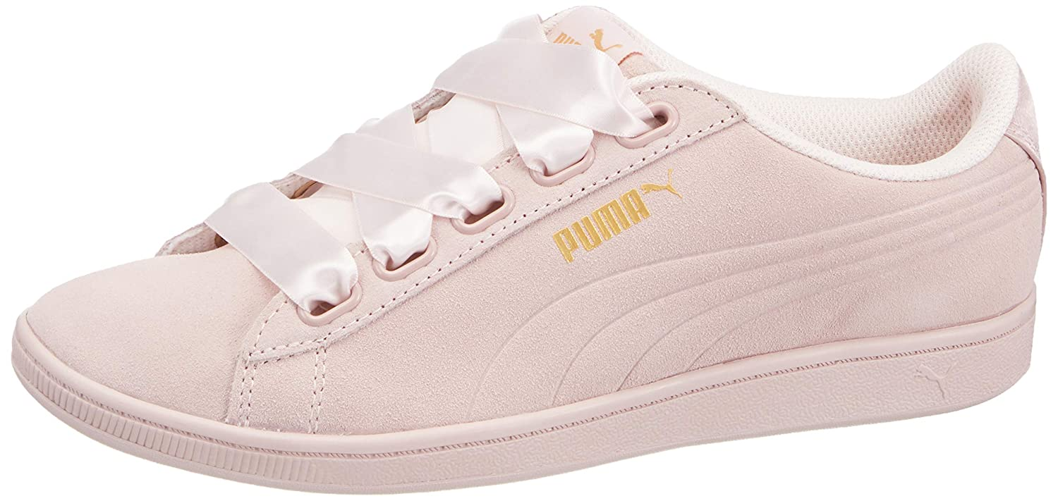 new style a8a14 8a900 Puma Womens Vikky Platform Ribbon Satin Trainers in Whisper ...