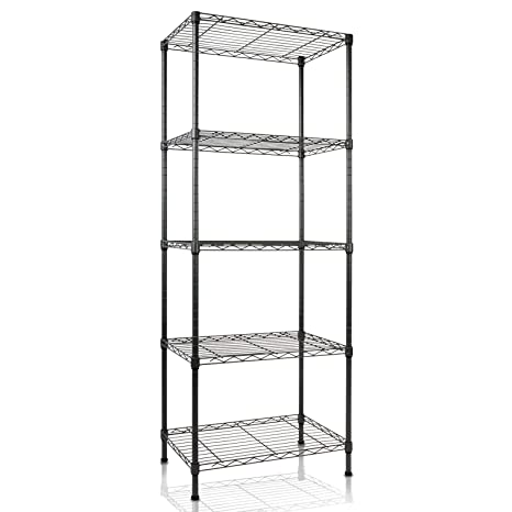 amazon com casa pura metal storage shelves wire shelving rh amazon com glass and metal bathroom shelves wood and metal bathroom shelves