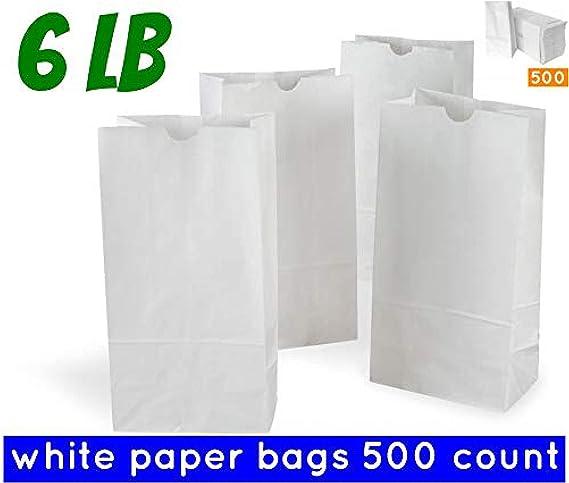 10 lb white paper bags