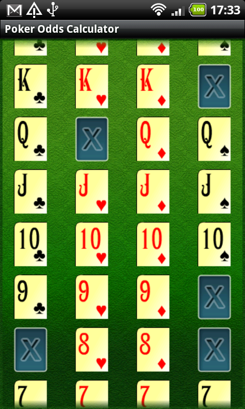 Poker Odds Generator