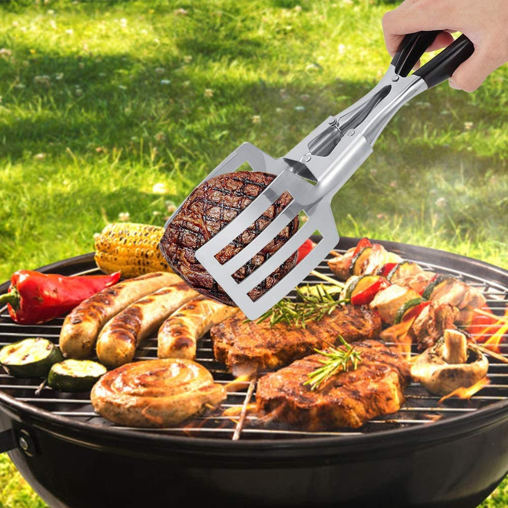 Pinza da Cucina per Cucina Ristorante Vobor Acciaio Inossidabile Fritto Pesce Pane Carne Barbecue Clip Morsetto