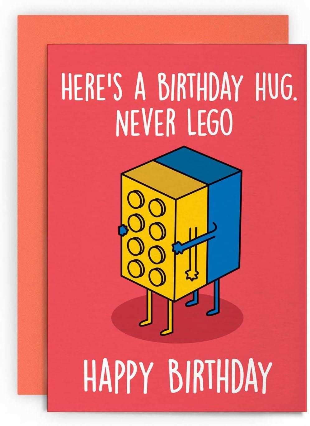Birthday Card Funny Retro Toys Husband Wife Boyfriend Girlfriend Friend Mum Dad Son Daughter Happy Greeting For Him Her Joke Lol Pun Birthday Hug Amazon Co Uk Office Products
