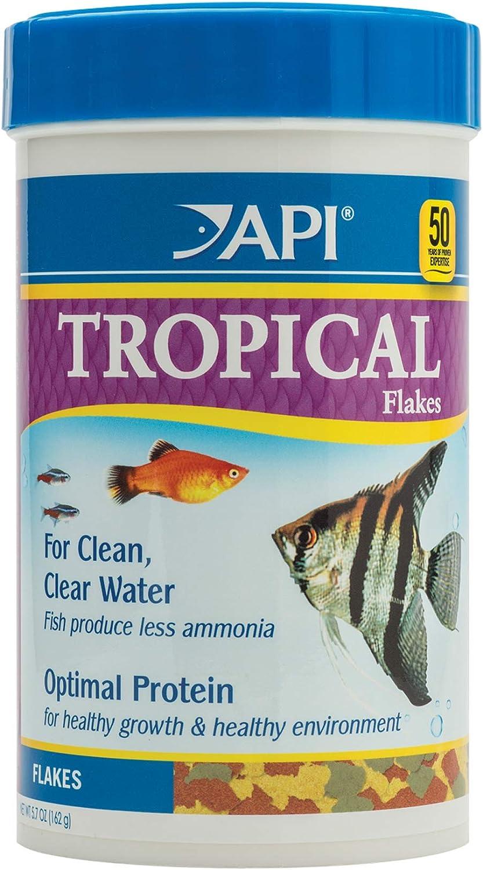 Amazon Com Api Tropical Flakes Fish Food 5 7 Ounce Container Pet Food Pet Supplies