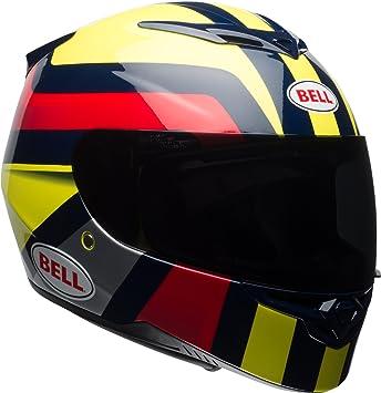 Gloss Hi-Viz Yellow//Navy//Red Empire, Large Bell RS2 Full-Face Motorcycle Helmet