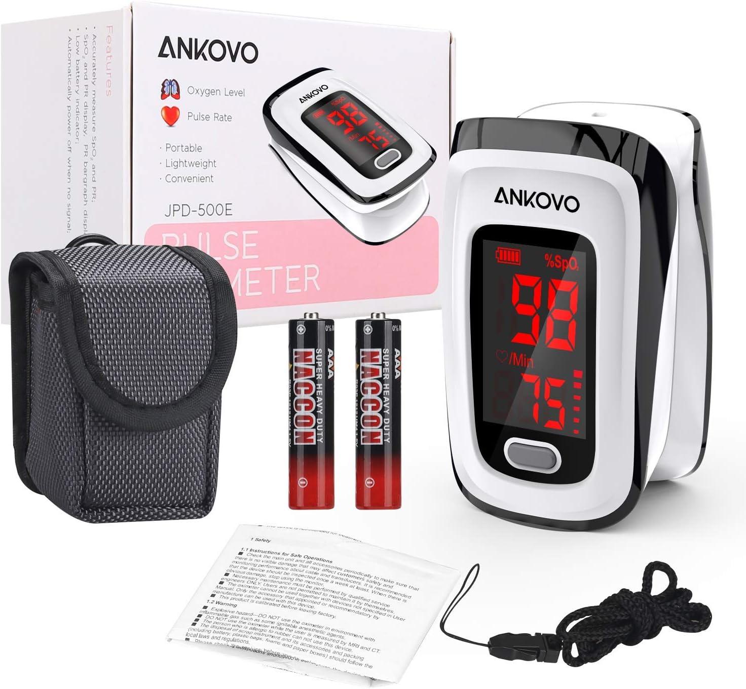 Ankovo Pulse Oximeter, Oxygen Saturation Meter for the Finger