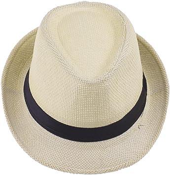 EOZY Para Mujer Hombre Paja De Lino Playa Sol Panamá Sombrero ...