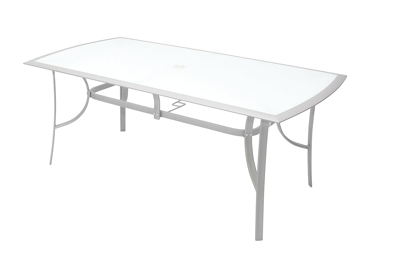 Gartentisch alu 180  VILLANA stilvoller Glastisch aus hochwertigem Aluminium in silber ...