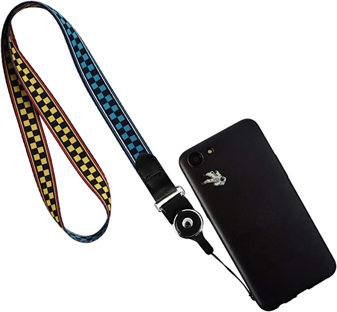 New Transparent Green 3-in-1 Cell Phone Lanyard with Hand Grip Detachable Neck Strap Protector for Smartphones 5 Inches Above