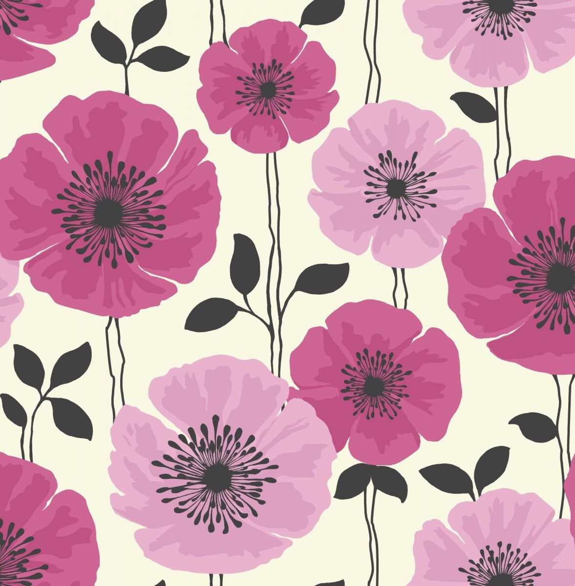 Pink white black fd14864 poppie fine decor wallpaper pink white black fd14864 poppie fine decor wallpaper amazon kitchen home mightylinksfo