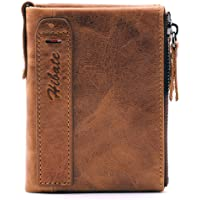 Hibate Men Leather Wallet RFID Blocking Men's Wallets Credit Card Holder Coin Pocket Purse