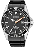 Citizen - BN0100-42E - Montre Homme - Quartz Analogique - Cadran Gris - Bracelet Caoutchouc Noir