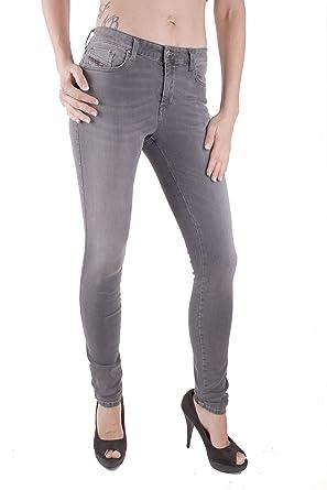 Diesel Skinzee 0R26E Damen Jeans Hose Slim Skinny (W25/L34, Grau)